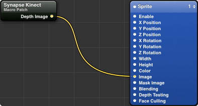 Drag Synapse to the Sprite module