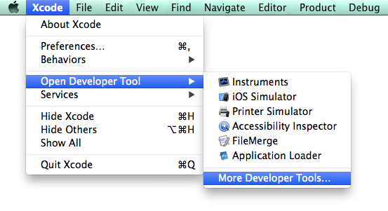 Xcode 5 Developer Tools